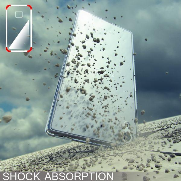 NALIA Handyhülle kompatibel mit Sony Xperia Z5, Ultra-Slim Silikon Case, Dünne Crystal Schutzhülle, Etui Handy-Tasche Back-Cover Phone Bumper, TPU Smartphone Gummihülle - Matt Schwarz – Bild 5