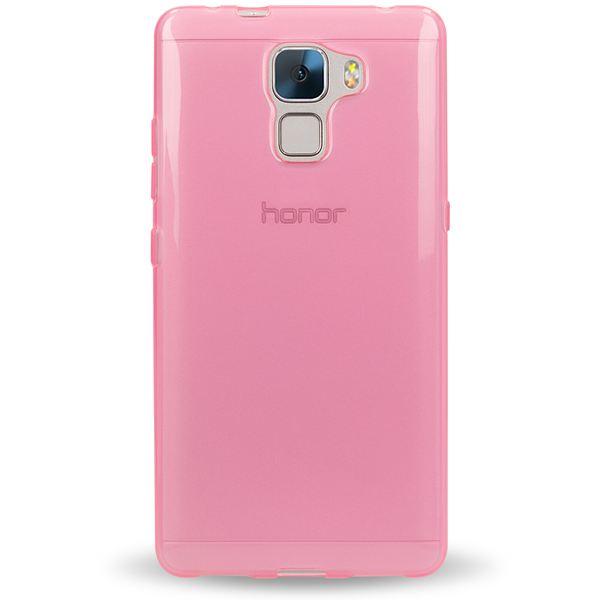 NALIA Handyhülle für Huawei Honor 7, Ultra-Slim Silikon Case Hülle, Dünne Crystal Schutzhülle, Etui Handy-Tasche Back-Cover Bumper, softe TPU Gummihülle für Honor-7 Smart-Phone - Transparent / Pink – Bild 4
