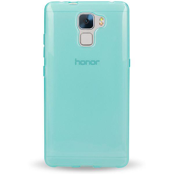 NALIA Handyhülle für Huawei Honor 7, Ultra-Slim Silikon Case Hülle, Dünne Crystal Schutzhülle, Etui Handy-Tasche Back-Cover Bumper, softe TPU Gummihülle für Honor-7 Smart-Phone - Transparent / Türkis – Bild 4