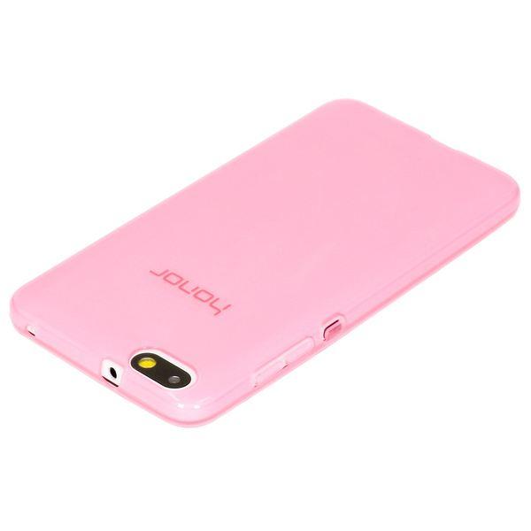 NALIA Handyhülle kompatibel mit Huawei Honor 4X, Soft Slim TPU Silikon Case Cover Hülle Crystal Schutzhülle Dünn Durchsichtig, Etui Handy-Tasche Back-Cover Phone Schutz Bumper - Transparent / Pink – Bild 2