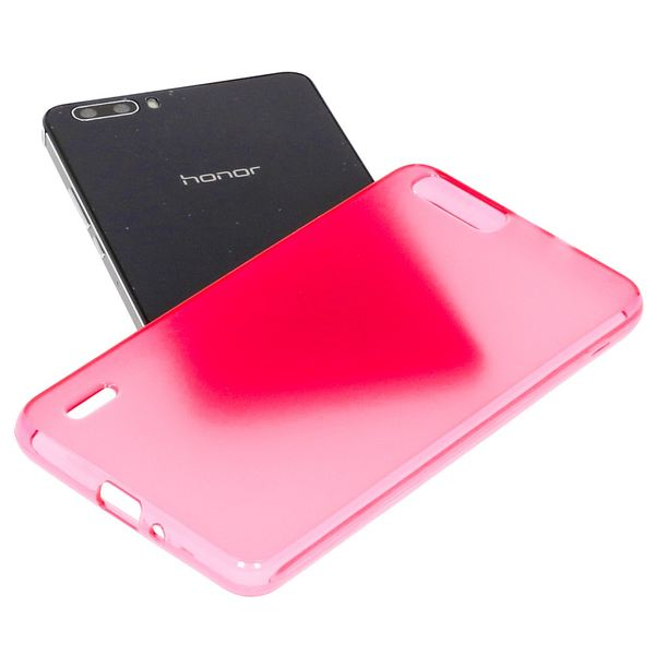 NALIA Handyhülle für Huawei Honor 6 Plus, Ultra-Slim Silikon Case Hülle, Dünne Crystal Schutzhülle, Etui Handy-Tasche Back-Cover Bumper, softe TPU Gummihülle für Honor-6 Plus - Matt Pink – Bild 4