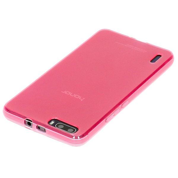 NALIA Handyhülle für Huawei Honor 6 Plus, Ultra-Slim Silikon Case Hülle, Dünne Crystal Schutzhülle, Etui Handy-Tasche Back-Cover Bumper, softe TPU Gummihülle für Honor-6 Plus - Transparent / Pink – Bild 3
