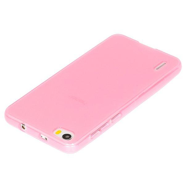 NALIA Handyhülle kompatibel mit Huawei Honor 6, Ultra-Slim TPU Silikon Case Cover Gummi-Hülle Schutzhülle Dünn, Etui Handy-Tasche Schale Soft TPU Back-Cover Smart-Phone Bumper - Transparent / Pink – Bild 3