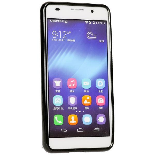 NALIA Handyhülle kompatibel mit Huawei Honor 6, Ultra-Slim TPU Silikon Case Cover Gummi-Hülle Schutzhülle Dünn, Etui Handy-Tasche Telefon-Schale Soft TPU Back-Cover Thin Smart-Phone Bumper - Schwarz – Bild 5