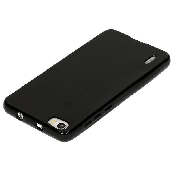 NALIA Handyhülle kompatibel mit Huawei Honor 6, Ultra-Slim TPU Silikon Case Cover Gummi-Hülle Schutzhülle Dünn, Etui Handy-Tasche Telefon-Schale Soft TPU Back-Cover Thin Smart-Phone Bumper - Schwarz – Bild 3