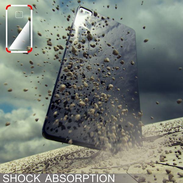 NALIA Handyhülle für Huawei P8, Ultra-Slim Silikon Case Cover Hülle, Dünne Crystal Schutzhülle, Etui Handy-Tasche Back-Cover Phone Bumper, softe TPU Gummihülle für P-8 Smartphone - Matt Schwarz – Bild 5