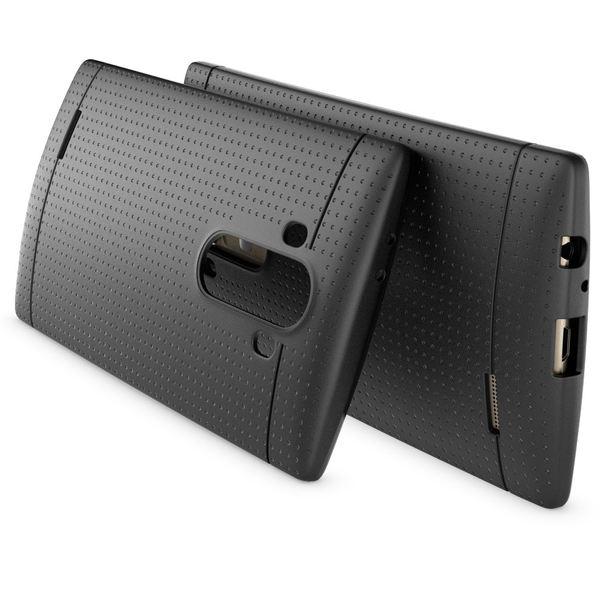 NALIA Handyhülle kompatibel mit LG G4, Ultra-Slim Case Softcover, Dünne Punkte Schutzhülle, perforierte Etui Handy-Tasche Back-Cover Bumper, TPU Smart-Phone Silikonhülle Hülle - Mesh Schwarz – Bild 2