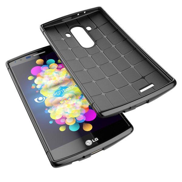 NALIA Handyhülle für LG G4, Ultra-Slim Case Softcover, Dünne Punkte Schutzhülle, perforierte Etui Handy-Tasche Back-Cover Bumper, TPU Silikon-Hülle für LG G-4 Smart-Phone - Mesh Schwarz – Bild 3