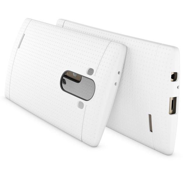 NALIA Handyhülle kompatibel mit LG G4, Ultra-Slim Case Softcover, Dünne Punkte Schutzhülle, perforierte Etui Handy-Tasche Back-Cover Bumper, TPU Smart-Phone Silikonhülle Hülle - Mesh Weiß – Bild 2