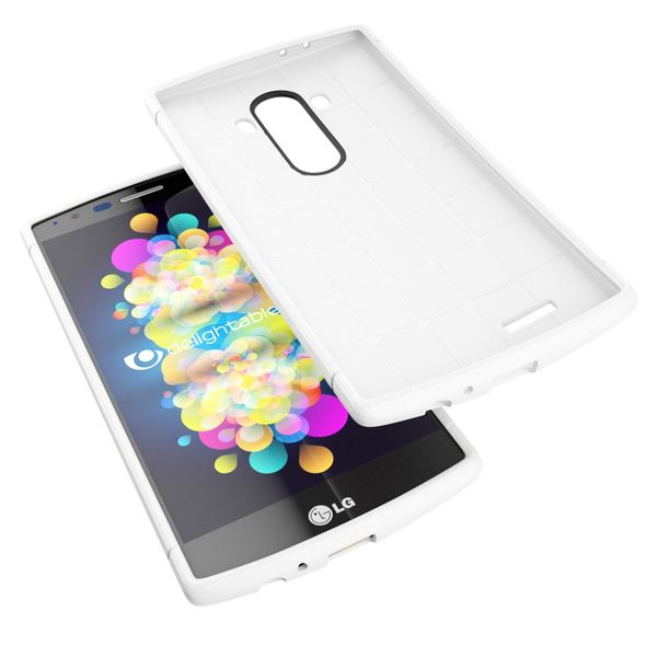 NALIA Handyhülle für LG G4, Ultra-Slim Case Softcover, Dünne Punkte Schutzhülle, perforierte Etui Handy-Tasche Back-Cover Bumper, TPU Silikon-Hülle für LG G-4 Smart-Phone - Mesh Weiß – Bild 3