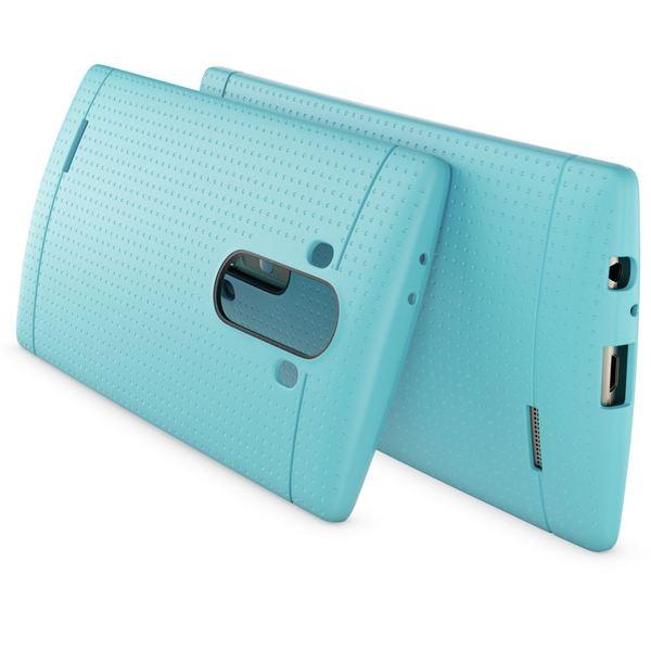 NALIA Handyhülle für LG G4, Ultra-Slim Case Softcover, Dünne Punkte Schutzhülle, perforierte Etui Handy-Tasche Back-Cover Bumper, TPU Silikon-Hülle für LG G-4 Smart-Phone - Mesh Türkis – Bild 2