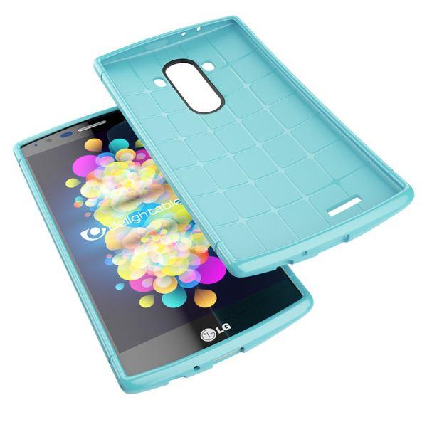 LG G4 Hülle Handyhülle von NALIA, Ultra-Slim Case Softcover, Dünne Punkte Schutzhülle, perforierte Etui Handy-Tasche Back-Cover Bumper, TPU Silikon-Hülle für LG G-4 Smart-Phone - Mesh Türkis – Bild 3