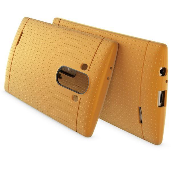 NALIA Handyhülle für LG G4, Ultra-Slim Case Softcover, Dünne Punkte Schutzhülle, perforierte Etui Handy-Tasche Back-Cover Bumper, TPU Silikon-Hülle für LG G-4 Smart-Phone - Mesh Champagner Gold – Bild 2