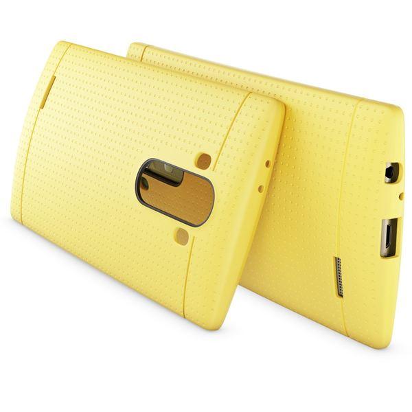 LG G4 Hülle Handyhülle von NALIA, Ultra-Slim Case Softcover, Dünne Punkte Schutzhülle, perforierte Etui Handy-Tasche Back-Cover Bumper, TPU Silikon-Hülle für LG G-4 Smart-Phone - Mesh Gelb – Bild 2