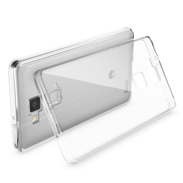 NALIA Handyhülle für Huawei Ascend Mate 7, Durchsichtiges Slim Silikon Case Transparente Hülle, Rückseite & Bumper, Crystal Schutzhülle Cover Etui Dünn, Handy-Tasche Backcover - Transparent  – Bild 2