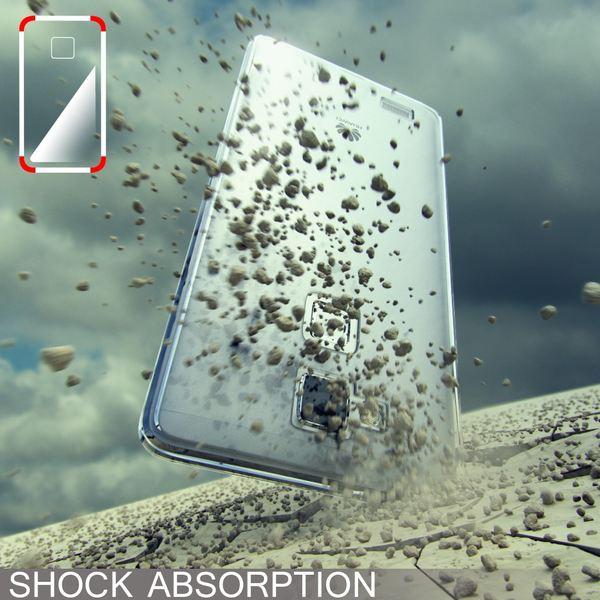 NALIA Handyhülle kompatibel mit Huawei Ascend Mate 7, Durchsichtiges Slim Silikon Case Transparente Hülle, Rückseite & Bumper, Crystal Schutzhülle Cover Etui Dünn Handy-Tasche - Transparent / Gelb – Bild 5