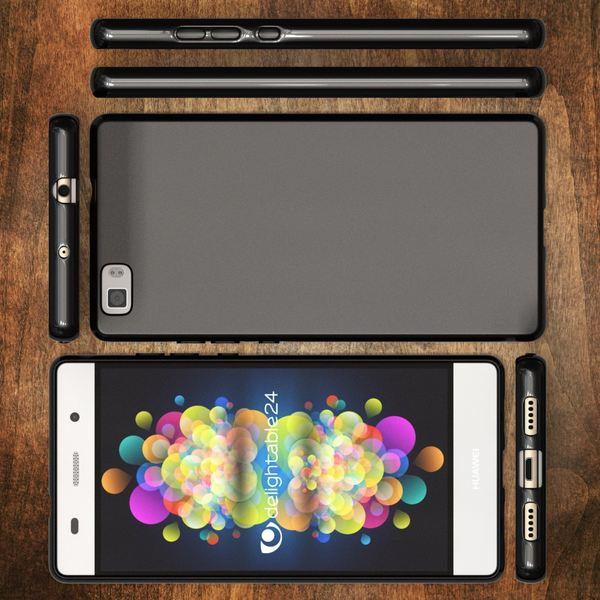 NALIA Handyhülle kompatibel mit Huawei P8 Lite, Ultra-Slim Silikon Case Cover Hülle, Dünne Crystal Schutzhülle Etui Handy-Tasche Schale Back-Cover Bumper, TPU Smart-Phone Gummi Hülle - Matt Schwarz – Bild 7