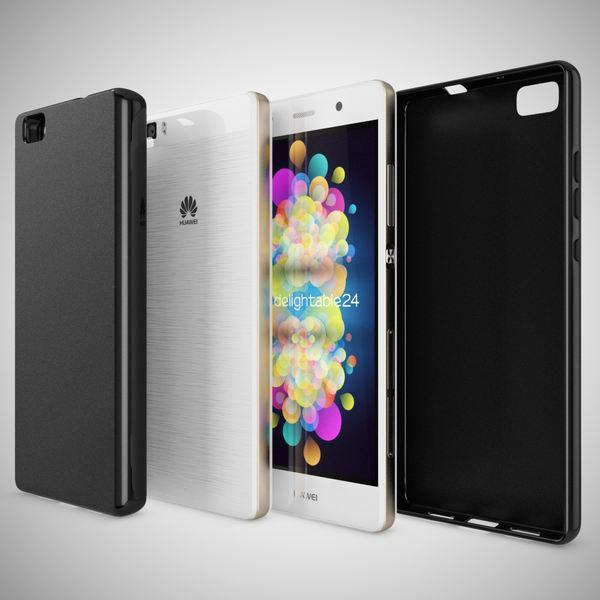 NALIA Handyhülle für Huawei P8 Lite, Ultra-Slim Silikon Case Cover Hülle, Dünne Crystal Schutzhülle, Etui Handy-Tasche Back-Cover Bumper, TPU Gummihülle für P8-Lite Smart-Phone - Matt Schwarz – Bild 5