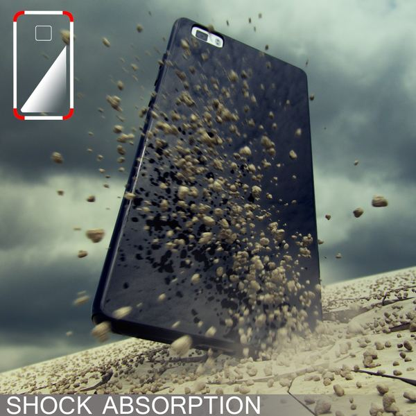 NALIA Handyhülle für Huawei P8 Lite, Ultra-Slim Silikon Case Cover Hülle, Dünne Crystal Schutzhülle, Etui Handy-Tasche Back-Cover Bumper, TPU Gummihülle für P8-Lite Smart-Phone - Schwarz – Bild 6