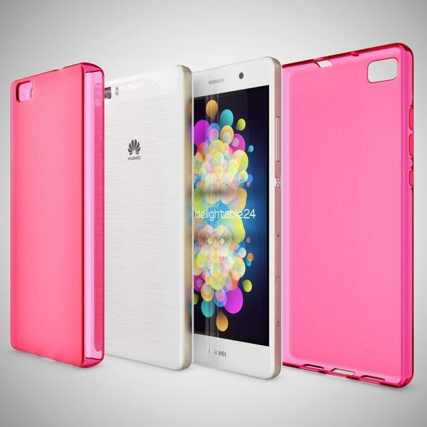 NALIA Handyhülle für Huawei P8 Lite, Ultra-Slim Silikon Case Cover Hülle, Dünne Crystal Schutzhülle, Etui Handy-Tasche Back-Cover Bumper, TPU Gummihülle für P8-Lite Smart-Phone - Matt Pink – Bild 5