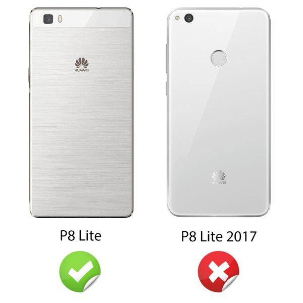 NALIA Handyhülle für Huawei P8 Lite, Ultra-Slim Silikon Case Cover Hülle, Dünne Crystal Schutzhülle, Etui Handy-Tasche Back-Cover Bumper, TPU Gummihülle für P8-Lite Smart-Phone - Matt Pink – Bild 4