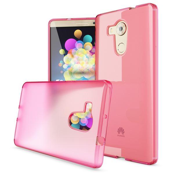 NALIA Handyhülle kompatibel mit Huawei Mate 8, Ultra-Slim Silikon Case Cover Dünn Crystal Schutz-Hülle, Etui Handy-Tasche Back-Cover Bumper Soft TPU Thin Smart-Phone Gummi-Hülle - Transparent / Pink – Bild 4