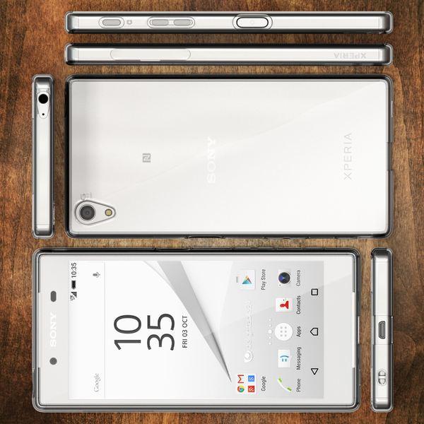 NALIA Handyhülle kompatibel mit Sony Xperia Z5, Soft Slim TPU Silikon Case Cover Crystal Clear Schutzhülle Dünn Durchsichtig, Etui Handy-Tasche Backcover Transparent, Phone Schutz Bumper – Bild 7