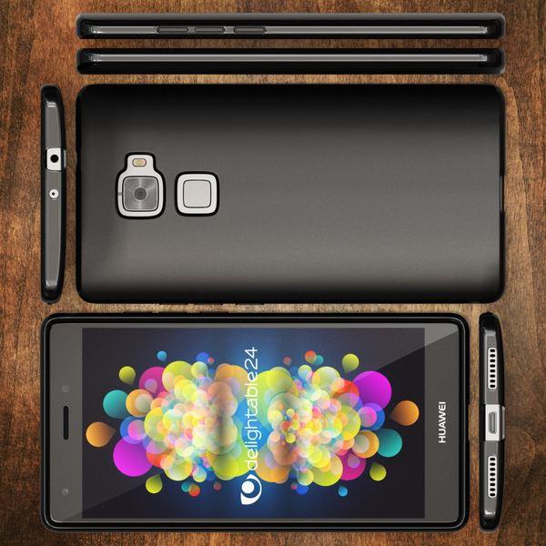 NALIA Handyhülle für Huawei Mate S, Ultra-Slim Silikon Case Cover Hülle, Dünne Crystal Schutzhülle, Etui Handy-Tasche Back-Cover Bumper, softe TPU Gummihülle für MateS Phone - Matt Schwarz – Bild 6