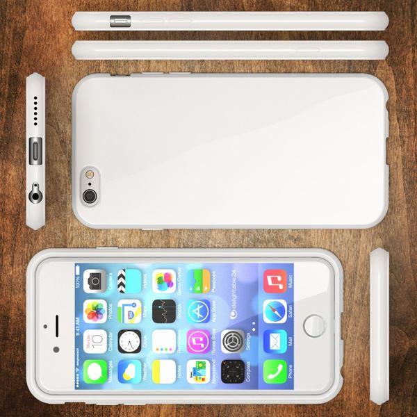 NALIA Handyhülle kompatibel mit iPhone 6 Plus 6S Plus, Ultra-Slim TPU Silikon Jelly Case, Dünne Cover Gummi Schutz-Hülle Skin, Handy-Tasche Telefon-Schale Back-Cover Thin Smart-Phone Bumper - Weiß – Bild 5