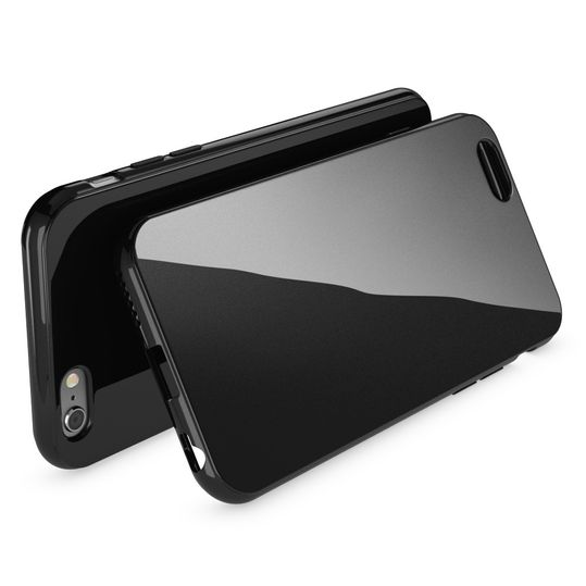 iPhone 6 Plus 6S Plus Hülle Handyhülle von NICA, Ultra-Slim TPU Silikon Jelly Case, Dünnes Cover Gummi Schutzhülle Skin, Handy-Tasche Backcover Bumper für Apple iPhone 6S Plus 6+ - Schwarz – Bild 2