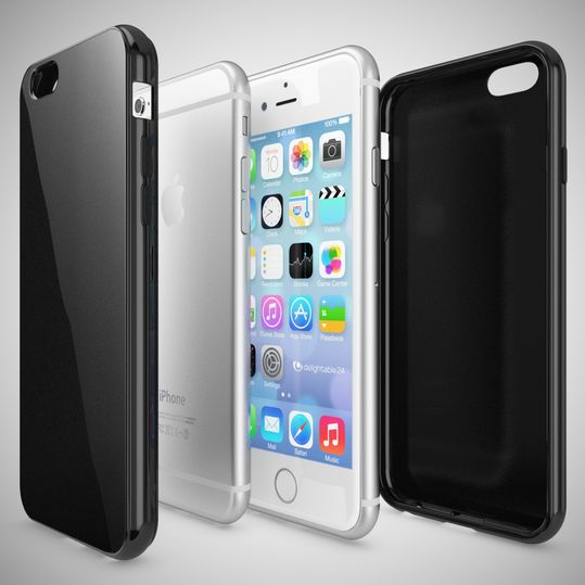 iPhone 6 Plus 6S Plus Hülle Handyhülle von NICA, Ultra-Slim TPU Silikon Jelly Case, Dünnes Cover Gummi Schutzhülle Skin, Handy-Tasche Backcover Bumper für Apple iPhone 6S Plus 6+ - Schwarz – Bild 3