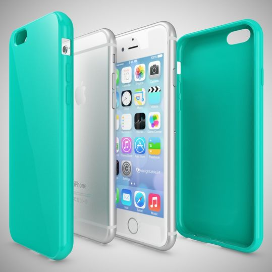 iPhone 6 Plus 6S Plus Hülle Handyhülle von NICA, Ultra-Slim TPU Silikon Jelly Case, Dünnes Cover Gummi Schutzhülle Skin, Handy-Tasche Backcover Bumper für Apple iPhone 6S Plus 6+ - Türkis – Bild 3