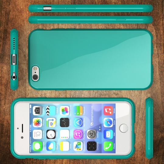 iPhone 6 Plus 6S Plus Hülle Handyhülle von NICA, Ultra-Slim TPU Silikon Jelly Case, Dünnes Cover Gummi Schutzhülle Skin, Handy-Tasche Backcover Bumper für Apple iPhone 6S Plus 6+ - Türkis – Bild 5