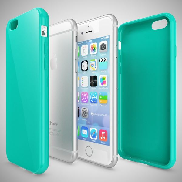 NALIA Handyhülle für iPhone 6 Plus 6S Plus, Ultra-Slim TPU Silikon Jelly Case, Dünnes Cover Gummi Schutz-Hülle Skin, Handy-Tasche Backcover Bumper für Apple iPhone 6S Plus 6+ - Türkis – Bild 3