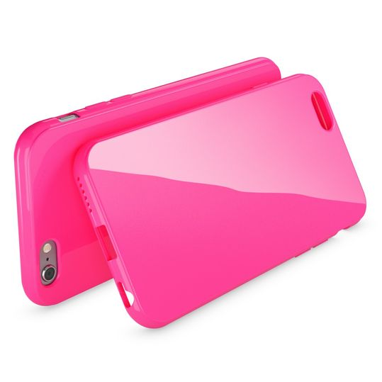 iPhone 6 Plus 6S Plus Hülle Handyhülle von NICA, Ultra-Slim TPU Silikon Jelly Case, Dünnes Cover Gummi Schutzhülle Skin, Handy-Tasche Backcover Bumper für Apple iPhone 6S Plus 6+ - Pink – Bild 2