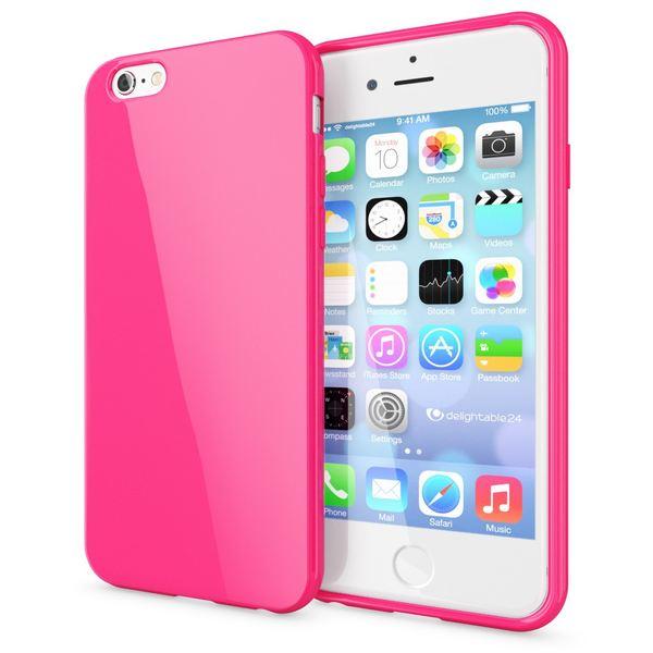 NALIA Handyhülle kompatibel mit iPhone 6 Plus 6S Plus, Ultra-Slim TPU Silikon Jelly Case, Dünne Cover Gummi Schutz-Hülle Skin, Handy-Tasche Telefon-Schale Back-Cover Thin Smart-Phone Bumper - Pink – Bild 1