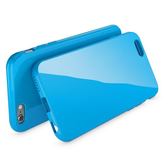iPhone 6 Plus 6S Plus Hülle Handyhülle von NICA, Ultra-Slim TPU Silikon Jelly Case, Dünnes Cover Gummi Schutzhülle Skin, Handy-Tasche Backcover Bumper für Apple iPhone 6S Plus 6+ - Blau – Bild 2
