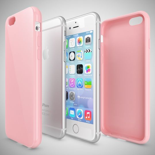 iPhone 6 Plus 6S Plus Hülle Handyhülle von NICA, Ultra-Slim TPU Silikon Jelly Case, Dünnes Cover Gummi Schutzhülle Skin, Handy-Tasche Backcover Bumper für Apple iPhone 6S Plus 6+ - Rosa – Bild 3