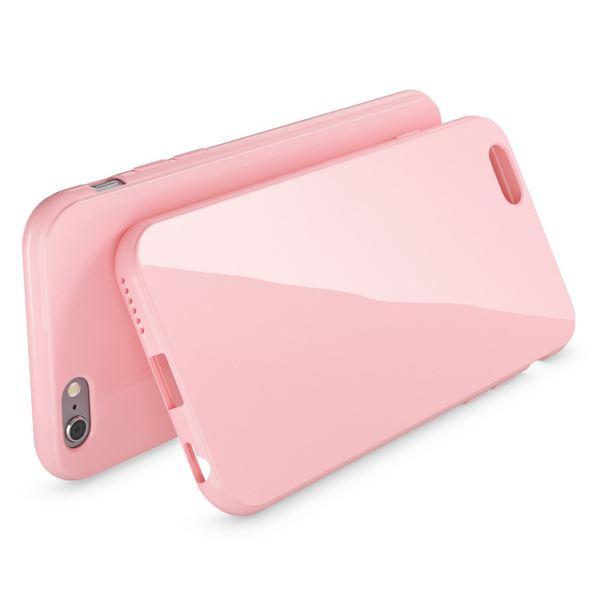 NALIA Handyhülle kompatibel mit iPhone 6 Plus 6S Plus, Ultra-Slim TPU Silikon Jelly Case, Dünne Cover Gummi Schutz-Hülle Skin, Handy-Tasche Telefon-Schale Back-Cover Thin Smart-Phone Bumper - Rosa – Bild 2