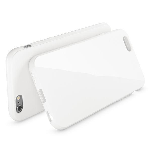 NALIA Handyhülle kompatibel mit iPhone 6 6S, Ultra-Slim TPU Silikon Jelly Case, Dünnes Cover Gummi Schutz-Hülle Skin, Etui Handy-Tasche Telefon-Schale Thin-Fit Back-Cover Smart-Phone Bumper - Weiß – Bild 2