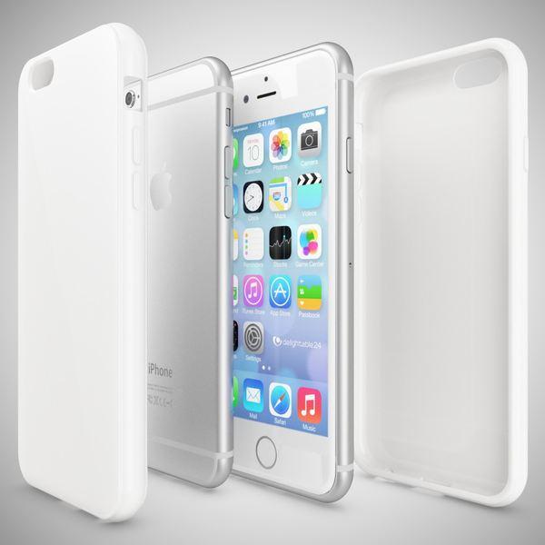 NALIA Handyhülle kompatibel mit iPhone 6 6S, Ultra-Slim TPU Silikon Jelly Case, Dünnes Cover Gummi Schutz-Hülle Skin, Etui Handy-Tasche Telefon-Schale Thin-Fit Back-Cover Smart-Phone Bumper - Weiß – Bild 3