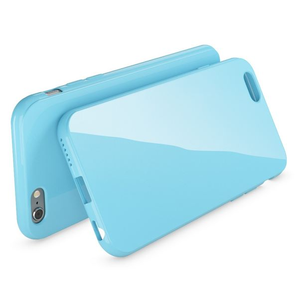 NALIA Handyhülle kompatibel mit iPhone 6 6S, Ultra-Slim TPU Silikon Jelly Case, Dünnes Cover Gummi Schutz-Hülle Skin, Etui Handy-Tasche Telefon-Schale Back-Cover Smart-Phone Bumper - Hell Blau – Bild 2