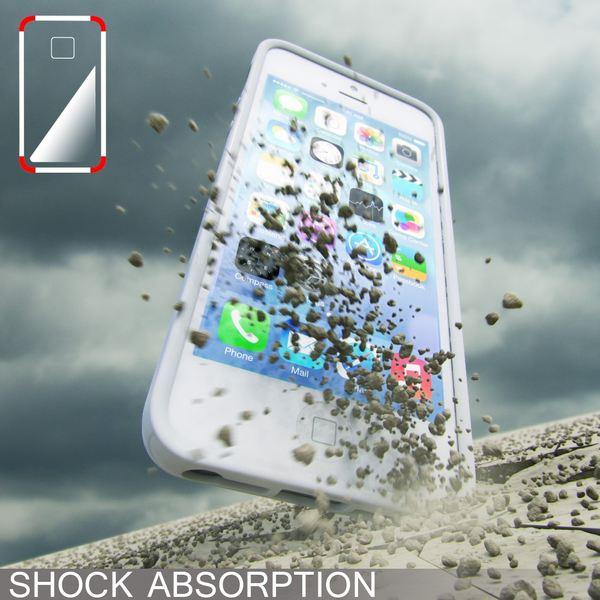 NALIA Handyhülle kompatibel mit iPhone SE 5 5S, Ultra-Slim TPU Silikon Jelly Case, Dünnes Cover Gummi Schutzhülle Skin, Etui Handy-Tasche Telefon-Schale Thin-Fit Back-Cover Smart-Phone Bumper - Weiß – Bild 5