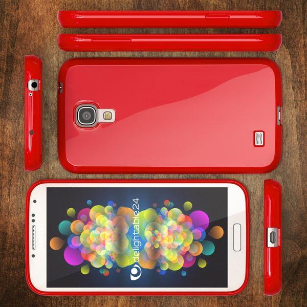 NALIA Handyhülle kompatibel mit Samsung Galaxy S4, Ultra-Slim TPU Silikon Jelly Case Hülle Dünn Cover Gummi Schutz-Hülle Skin, Etui Handy-Tasche Telefon-Schale Back-Cover Smart-Phone Bumper - Rot – Bild 6