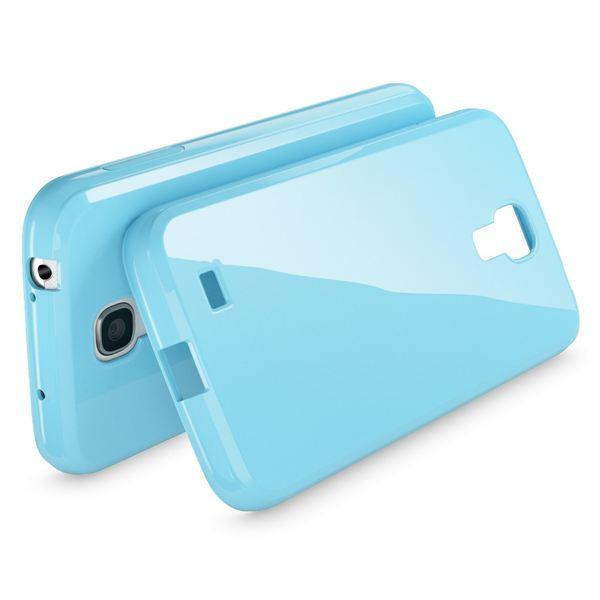 NALIA Handyhülle für Samsung Galaxy S4, Ultra-Slim TPU Silikon Jelly Case Hülle, Dünnes Cover Gummi Schutzhülle Skin, Etui Handy-Tasche Backcover Bumper für Samsung S4 Smart-Phone - Hell Blau – Bild 2