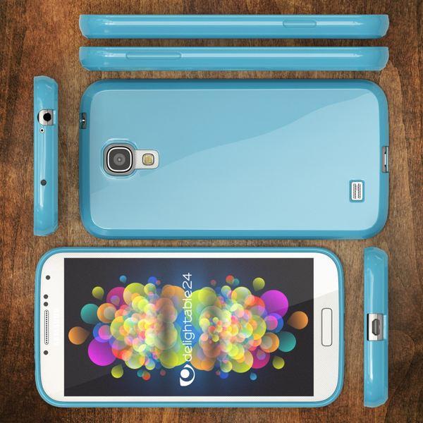 NALIA Handyhülle für Samsung Galaxy S4, Ultra-Slim TPU Silikon Jelly Case Hülle, Dünnes Cover Gummi Schutzhülle Skin, Etui Handy-Tasche Backcover Bumper für Samsung S4 Smart-Phone - Hell Blau – Bild 6