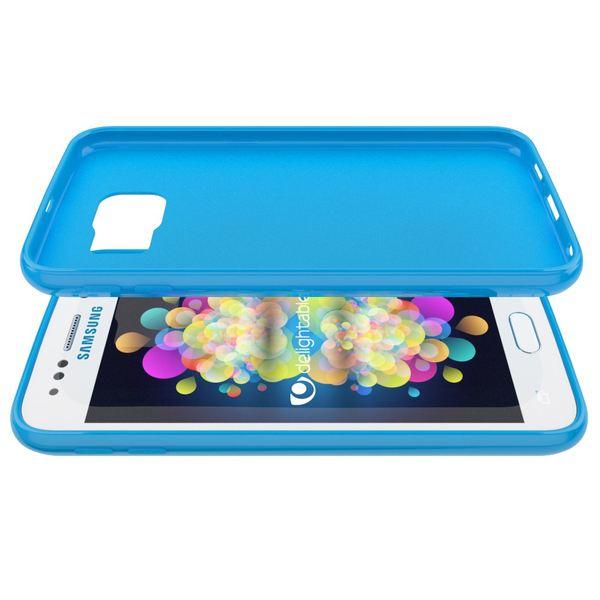 NALIA Handyhülle kompatibel mit Samsung Galaxy S6, Ultra-Slim TPU Silikon Jelly Case Hülle, Dünnes Cover Gummi Schutzhülle Skin Etui Handy-Tasche Schale Thin-Fit Back-Cover Smart-Phone Bumper - Blau – Bild 4