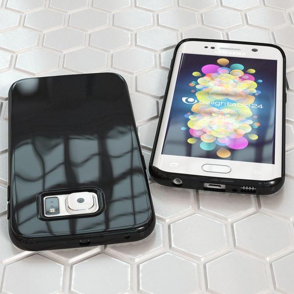 NALIA Handyhülle kompatibel mit Samsung Galaxy S6 Edge, Ultra-Slim TPU Silikon Jelly Case Hülle, Dünne Gummi Schutz-Hülle Skin Etui Handy-Tasche Telefon-Schale Back-Cover Smart-Phone Bumper - Schwarz – Bild 5