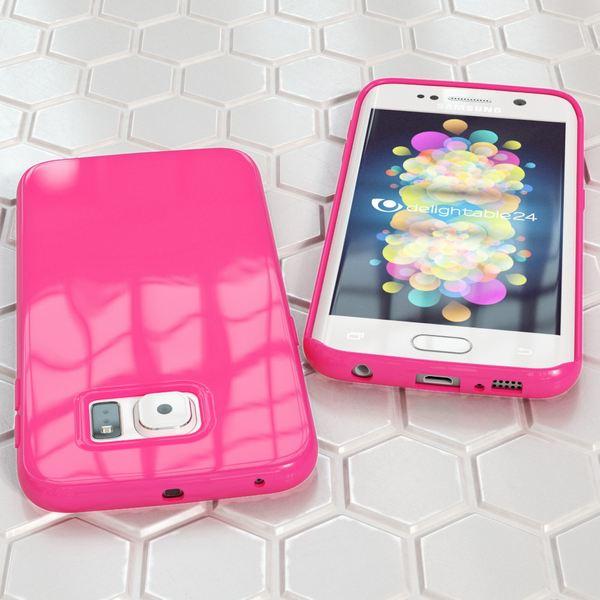 NALIA Handyhülle kompatibel mit Samsung Galaxy S6 Edge, Ultra-Slim TPU Silikon Jelly Case Hülle, Dünne Gummi Schutz-Hülle Skin, Etui Handy-Tasche Telefon-Schale Back-Cover Smart-Phone Bumper - Pink – Bild 5