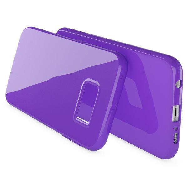 NALIA Handyhülle kompatibel mit Samsung Galaxy S6 Edge, Ultra-Slim TPU Silikon Jelly Case Hülle, Dünne Gummi Schutz-Hülle Skin, Etui Handy-Tasche Telefon-Schale Back-Cover Smart-Phone Bumper - Lila – Bild 2